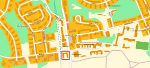 Brf Geringslådan på kartan
